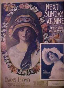 Next Sunday At Nine or Dearie Won't You Call Me Dearie